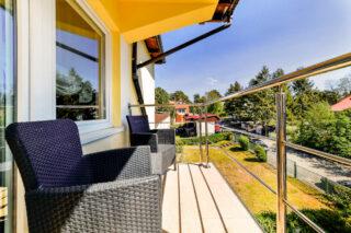 Własny balkon w pokoju LUX